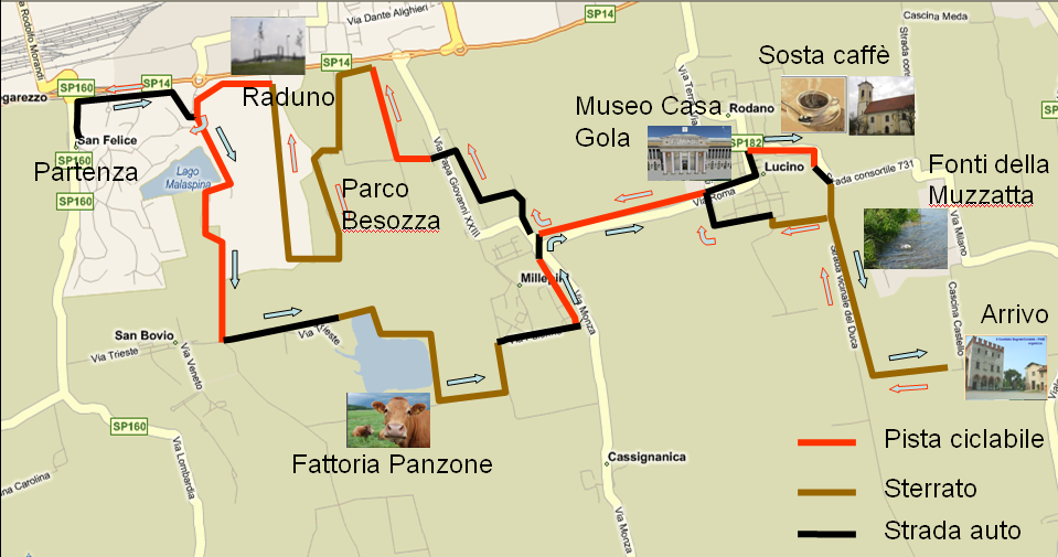 Mappa gita a cascina castello
